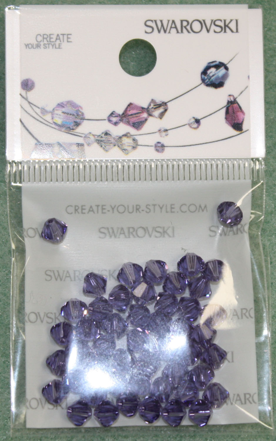 Swarovski Crystal Bicone Tanzanite F (539)pack of 50pcs
